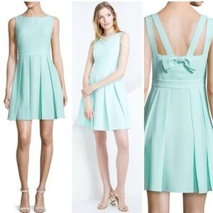 Kate Spade Mint Liqueur Crepe Bow Back Dress NWT